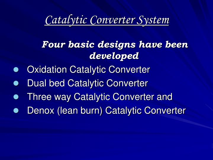 Catalytic Converter System