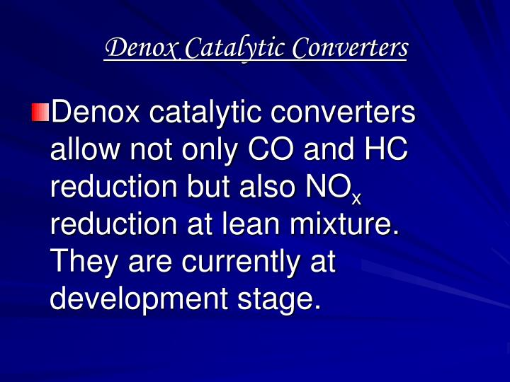 Denox Catalytic Converters