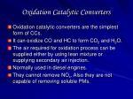 oxidation catalytic converters