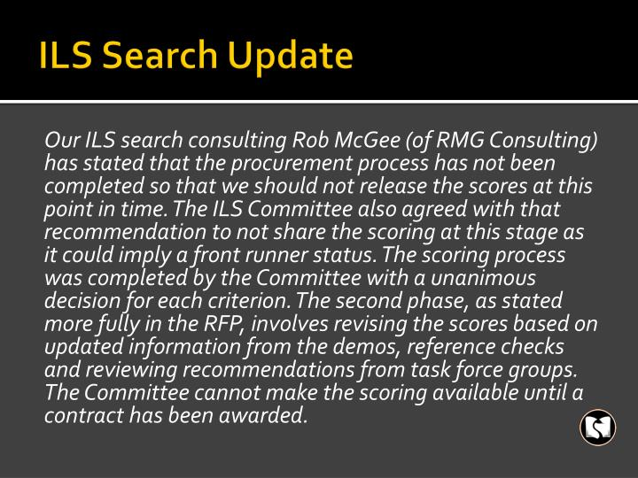 ILS Search Update