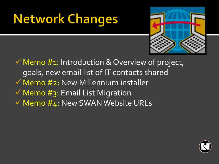 Network Changes