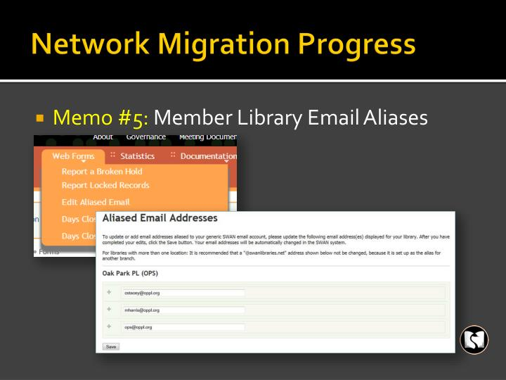 Network Migration Progress