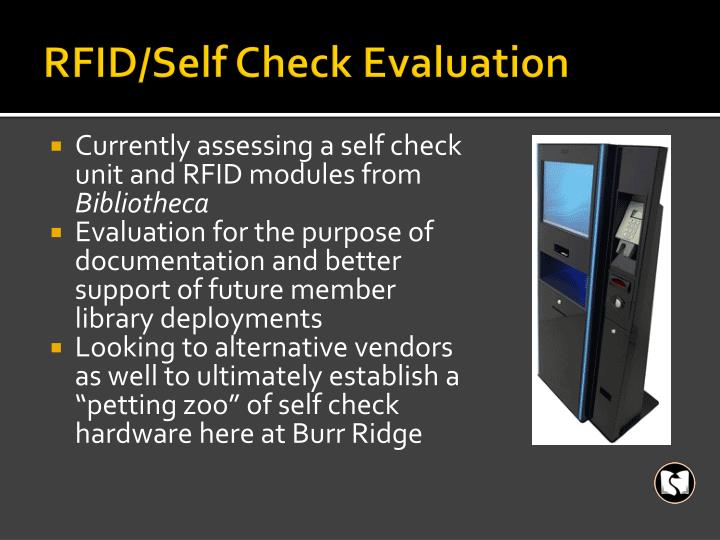 RFID/Self Check Evaluation