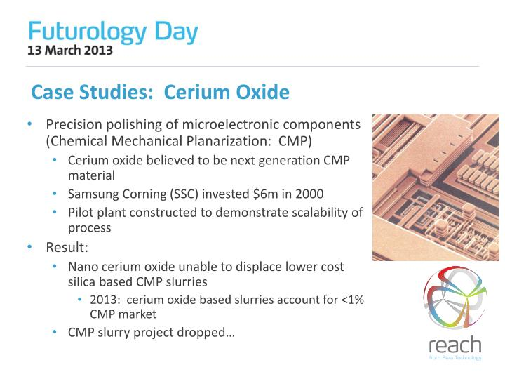 Case Studies:  Cerium Oxide