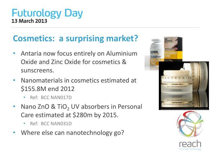 Cosmetics:  a surprising market?