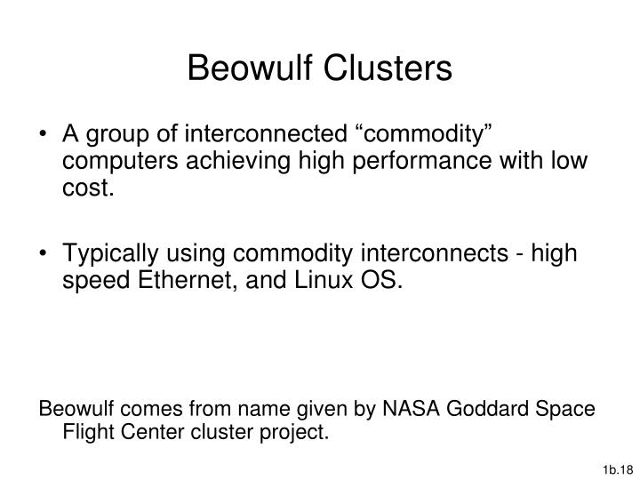 Beowulf Clusters