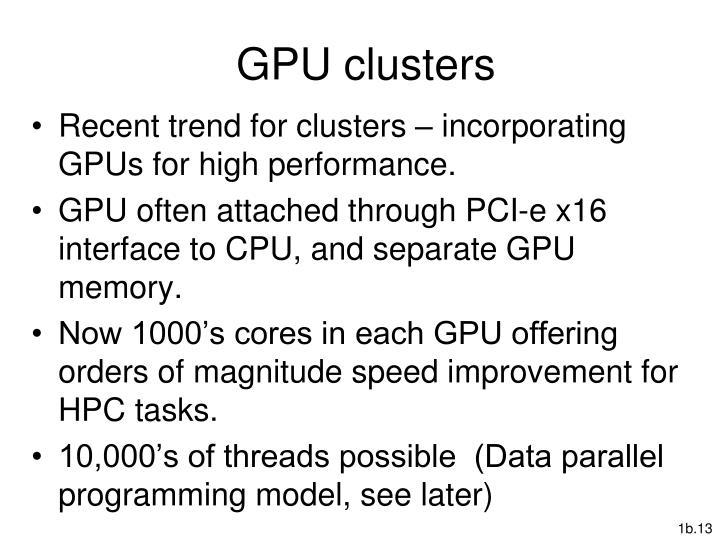 GPU clusters