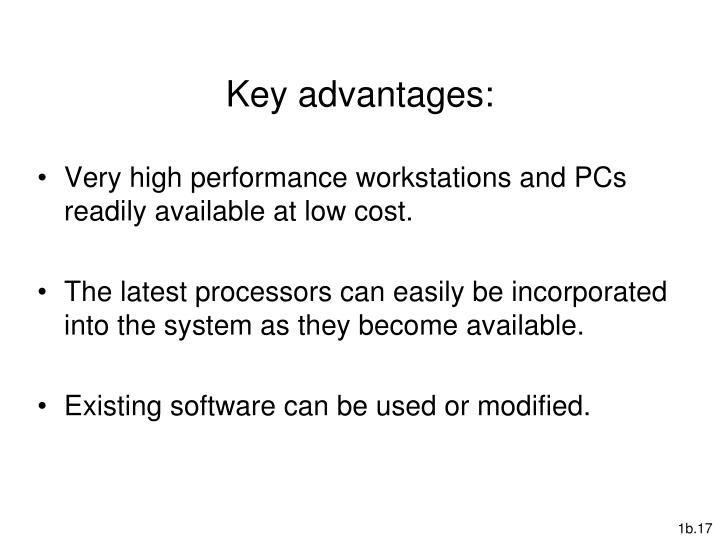 Key advantages: