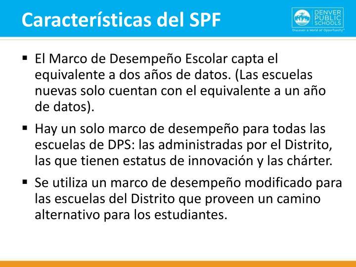 Características del SPF