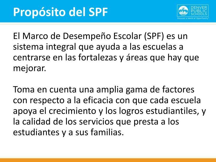 Propósito del SPF