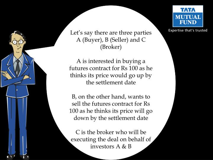 Let's say there are three parties A (Buyer), B (Seller) and C (Broker)