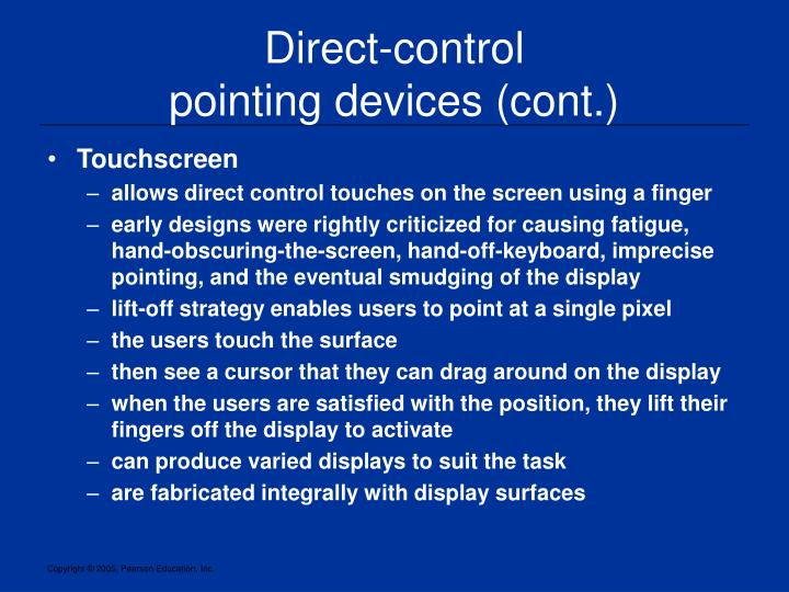 Direct-control
