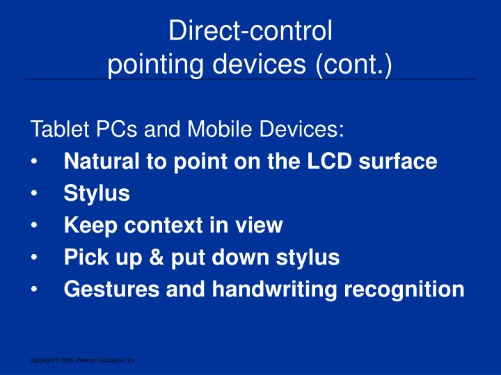 Direct-control