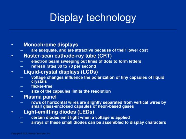 Display technology