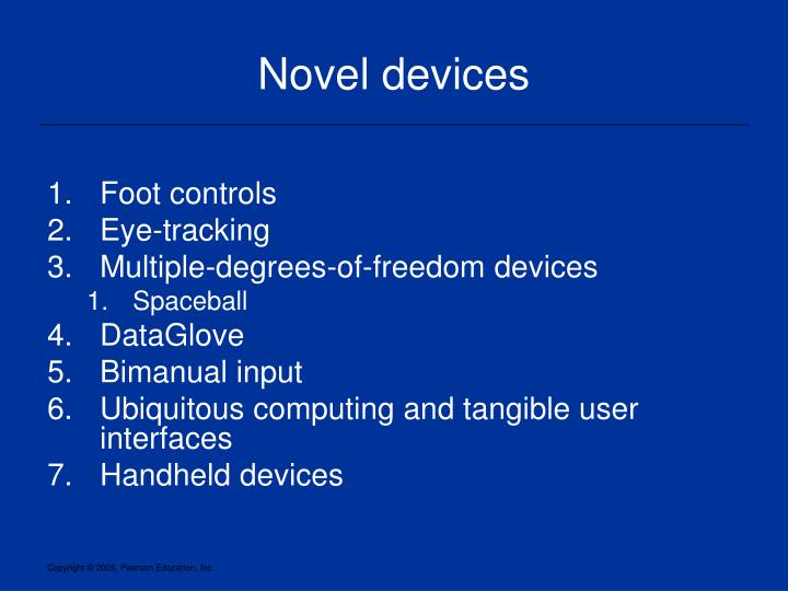 Novel devices