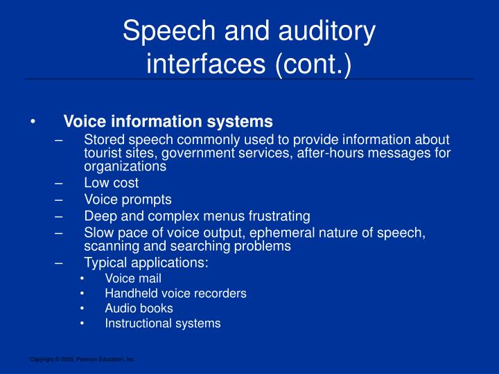 Speech and auditory