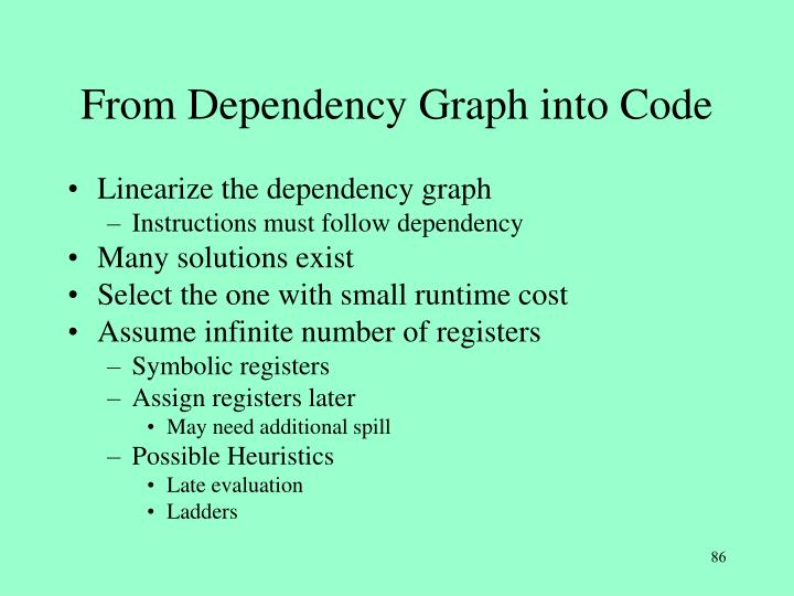 From Dependency Graph into Code