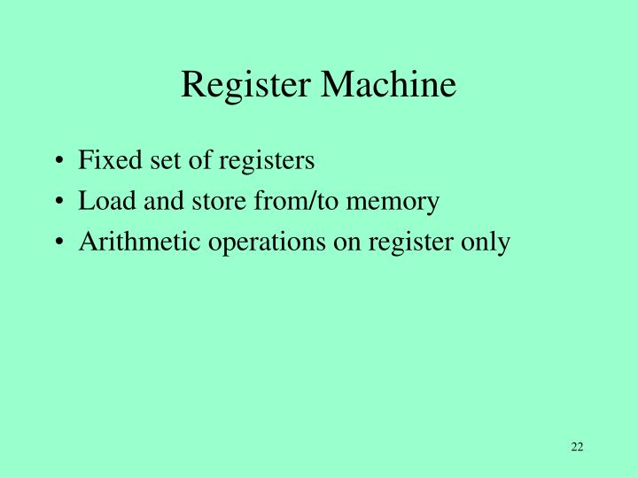 Register Machine