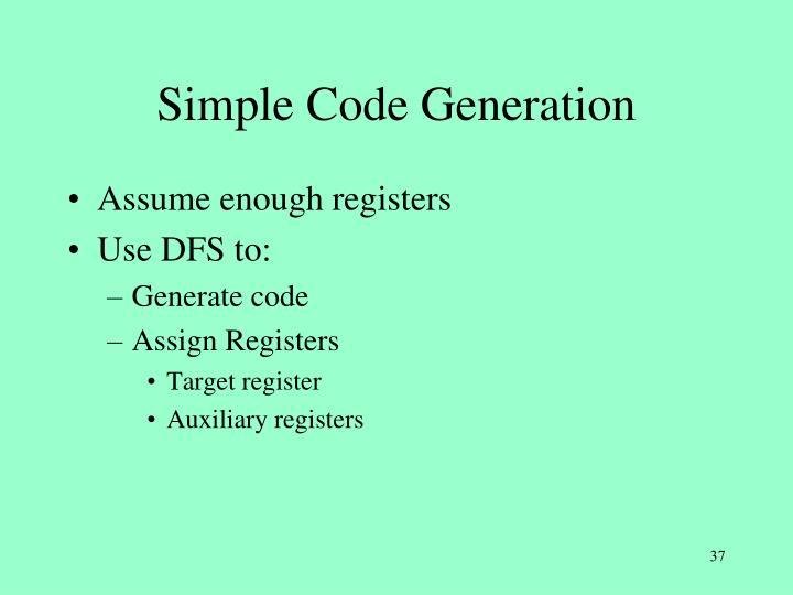 Simple Code Generation
