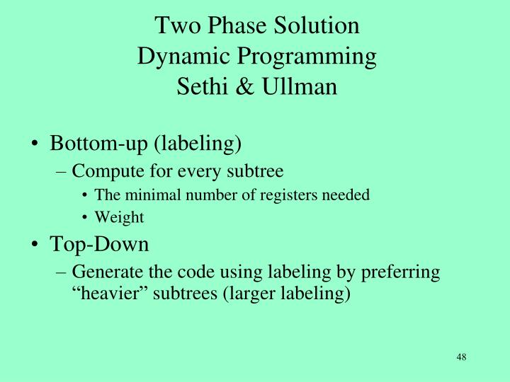 Two Phase Solution