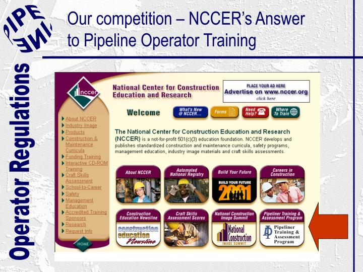 Our competition – NCCER's Answer