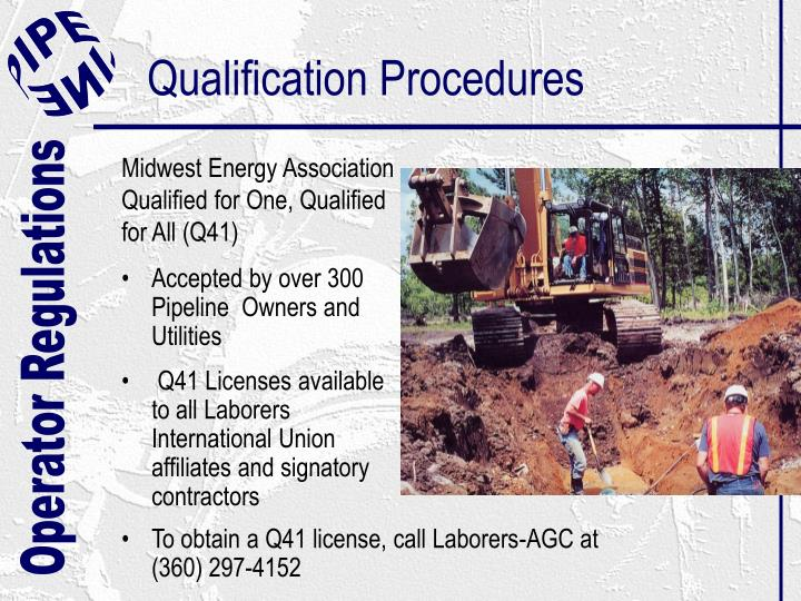 Qualification Procedures