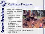 qualification procedures