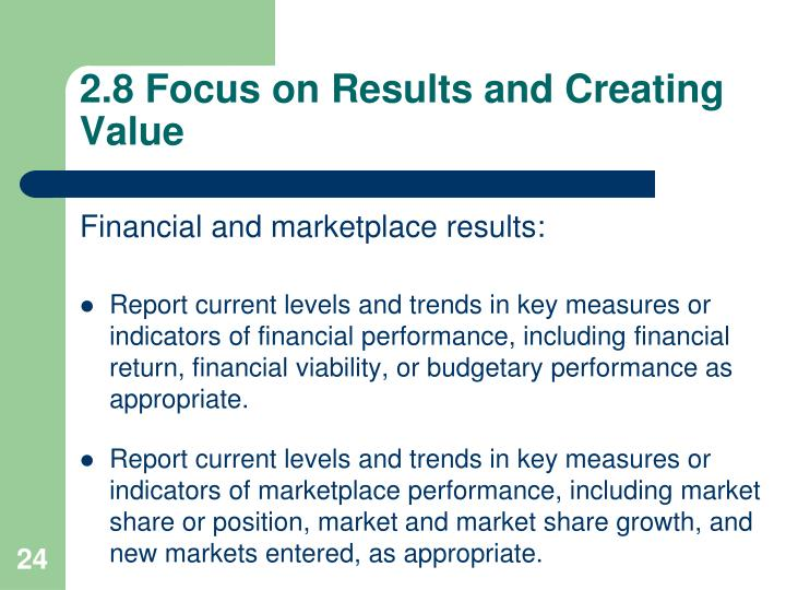 2.8 Focus on Results and Creating Value
