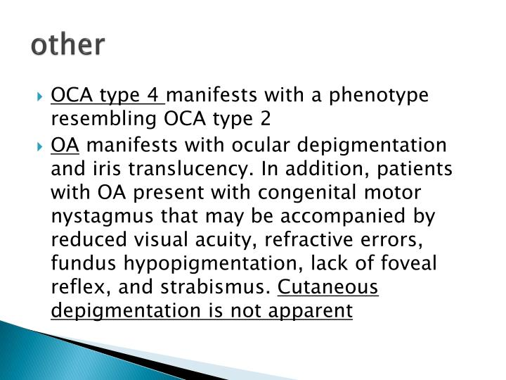 Ppt Oculocutaneous Albinism Powerpoint Presentation Id
