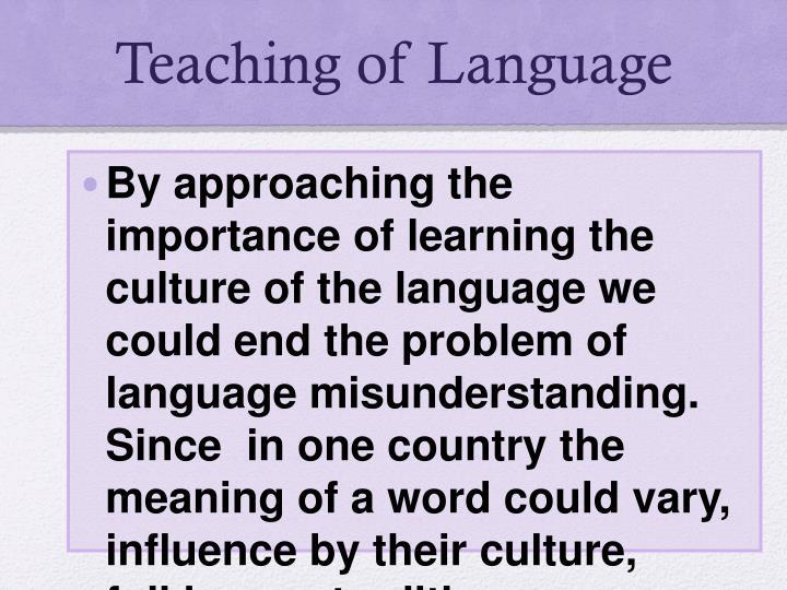 Teaching of Language