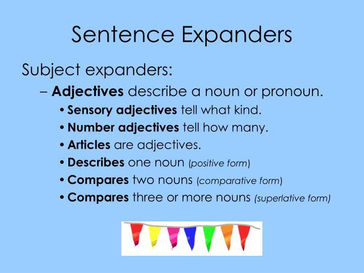 Sentence Expanders