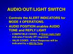 audio out light switch