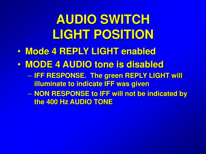 AUDIO SWITCH