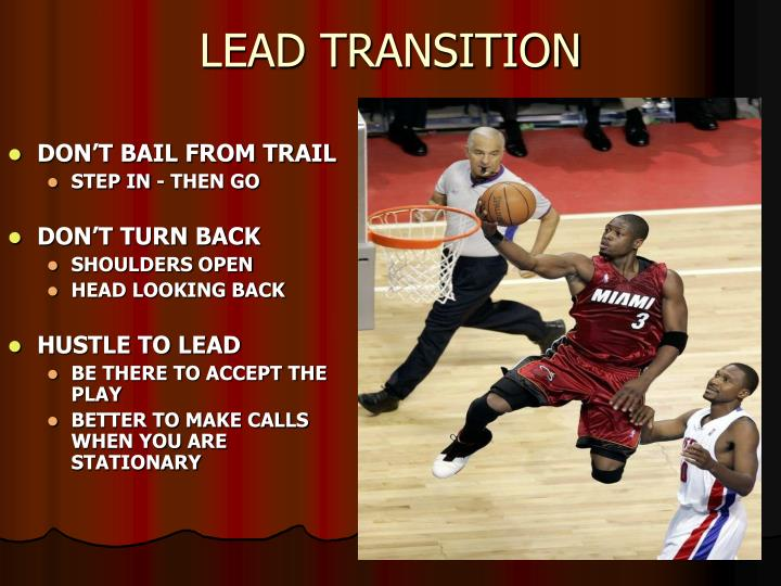 LEAD TRANSITION