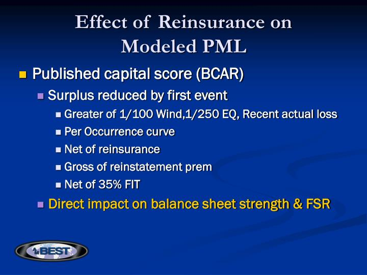 Effect of Reinsurance on
