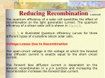 reducing recombination continued1