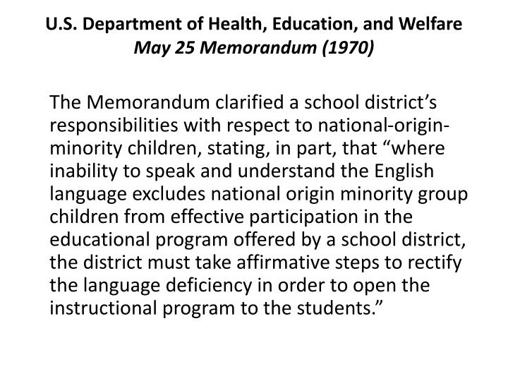 U.S. Department of Health, Education, and Welfare
