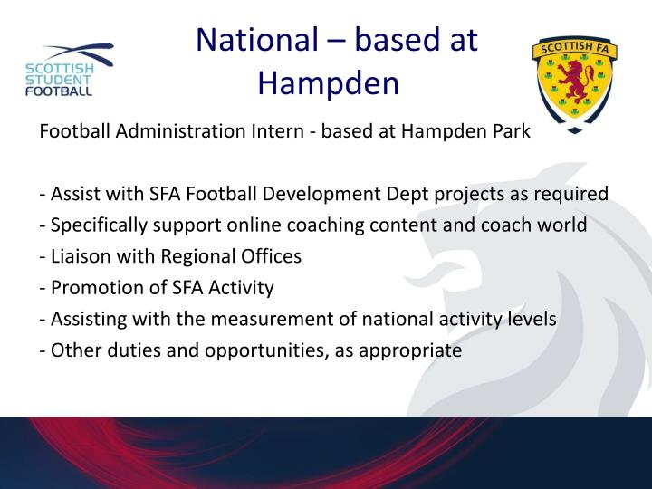 National – based at Hampden