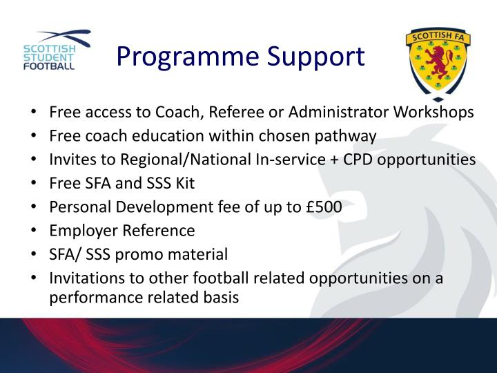Programme Support