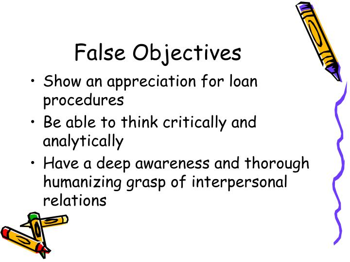 False Objectives