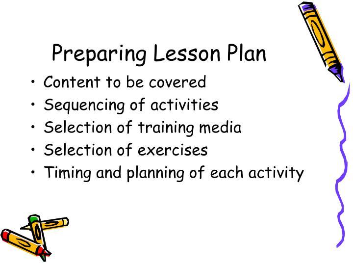 Preparing Lesson Plan