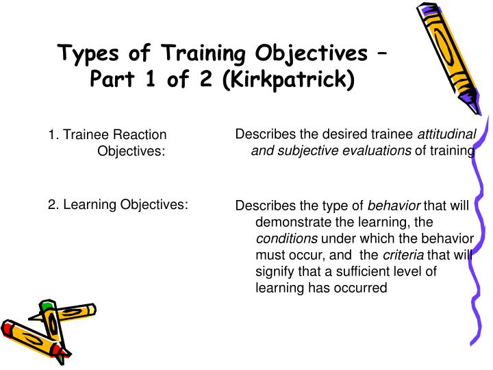 Types of Training Objectives –