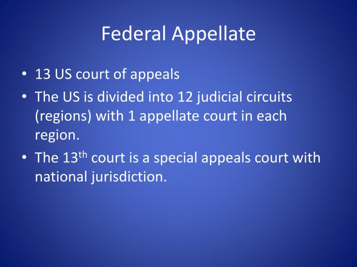 Federal Appellate