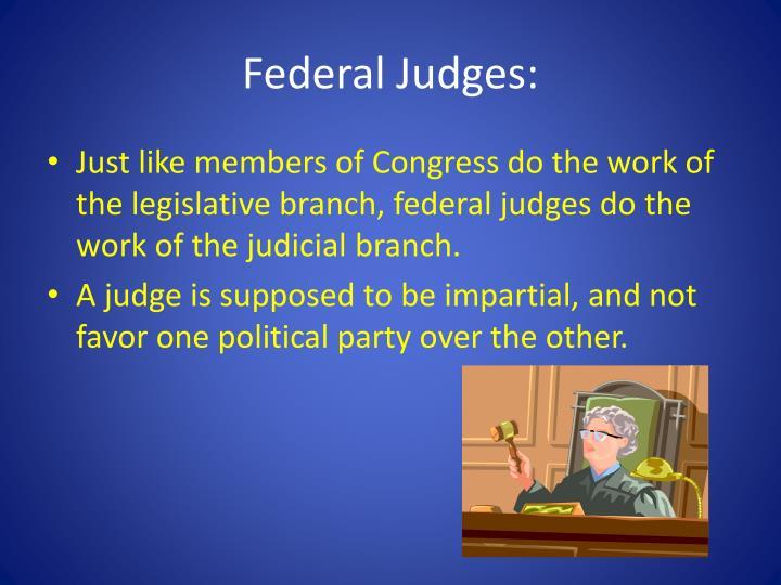 Federal Judges: