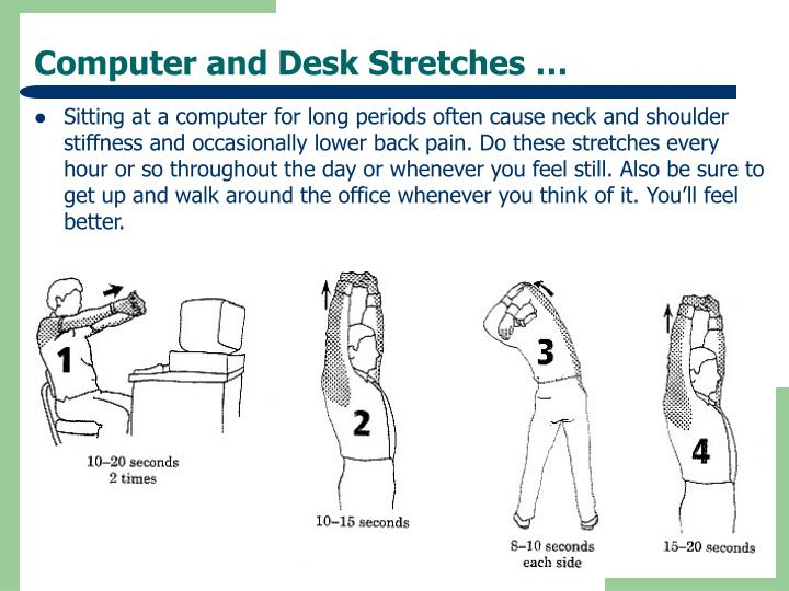 Computer and Desk Stretches …