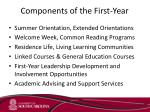 components of the first year