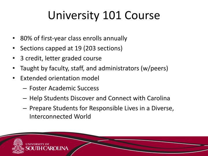 University 101 Course