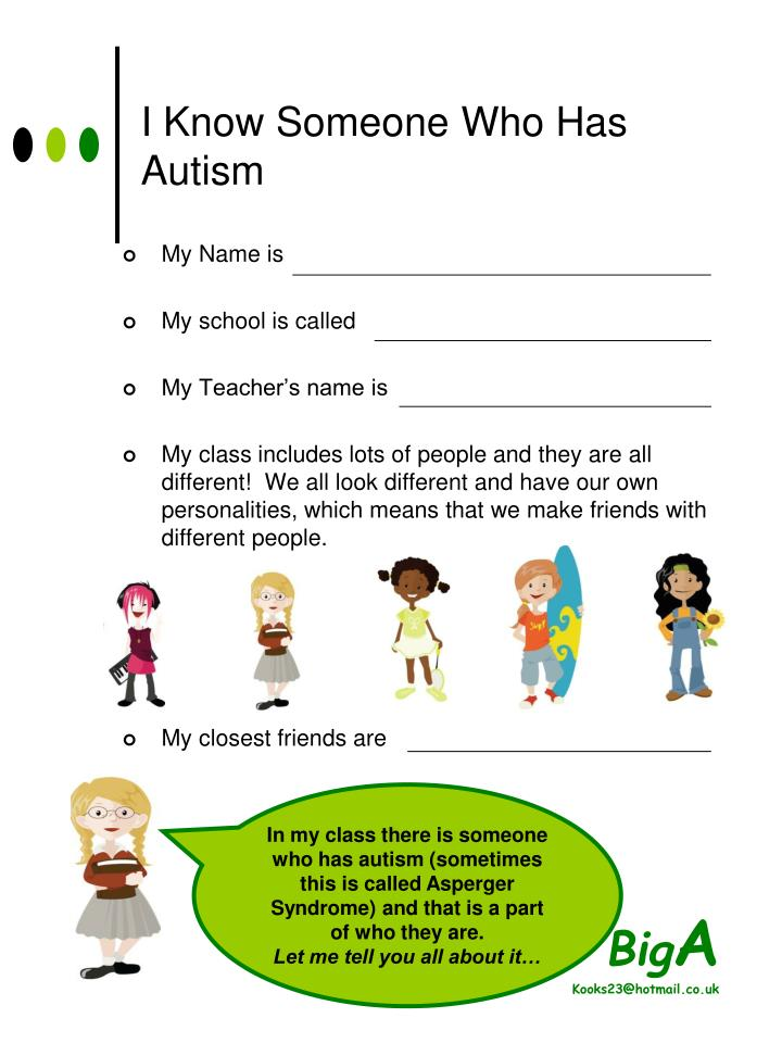 I Know Someone Who Has Autism