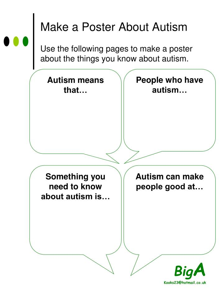 Make a Poster About Autism