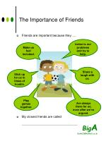 the importance of friends